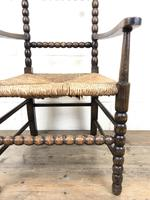 Antique Child's Bobbin Chair with Rush Seat (6 of 10)