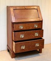 Arts and Crafts Oak Bureau (11 of 11)