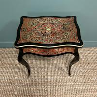 Small 19th Century Antique Boulle Work Table (8 of 9)