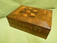 Large Tunbridge Ware Style Jewellery Box - Original Tray c.1870 (10 of 16)