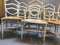 Set of 6 Sheraton Style Painted Chairs (6 of 7)