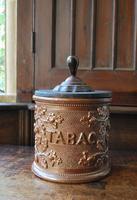 Antique French Stoneware Tobacco Jar (2 of 7)