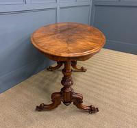 Victorian Burr Walnut Stretcher Table (6 of 13)