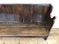 Rustic Antique Country Oak Settle Bench (8 of 14)