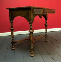 Outstanding William & Mary Style Leather & Stud Bound Country Oak Lowboy Table (3 of 18)