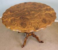 Antique Burr Walnut Shaped Occasional Table (6 of 9)