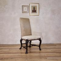 18th Century Ebonised & Upholstered Queen Anne Side Chair (9 of 13)
