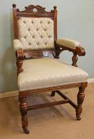 Antique Victorian Set of Eight Oak Dining Chairs (14 of 16)