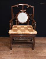 Pair Antique Chinese Armchairs Hardwood 19th Century Seat Chair (13 of 13)