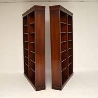 Pair of Large Georgian Style Mahogany Open Bookcases (4 of 11)