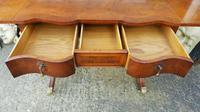 Antique Design Walnut Serpentine Front Desk (6 of 7)