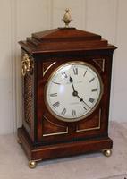 Small  Mahogany Chamfer Top Bracket Clock (10 of 10)