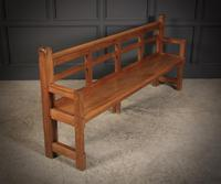 Solid Oak Arts & Crafts Bench (15 of 15)