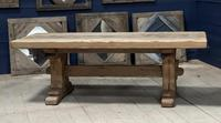 Superb Very Rustic French Oak Bleached Oak Farmhouse Dining Table (5 of 32)