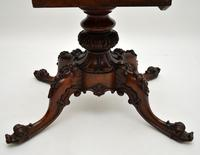 Antique  Victorian Burr Walnut Loo Table (6 of 13)