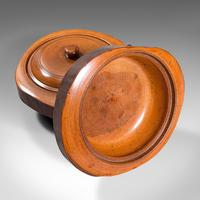 Pair Of Antique Carved Lidded Bowls, Treen, English, Yew, Victorian, Circa 1900 (11 of 12)