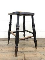 Antique 19th Century Elm Country Made Stool (4 of 8)
