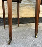 Maple & Co - Stunning Edwardian Marquetry Rosewood Library Writing Table Desk (15 of 15)