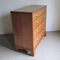 Oak & Mahogany Georgian Chest of Drawers (8 of 8)
