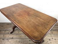 Victorian Mahogany Occasional Table with Stretcher (10 of 10)