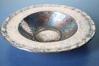 Arts & Crafts Hugh Wallis Hammered Copper & Pewter Spiral Pattern Dish c.1912 (9 of 21)