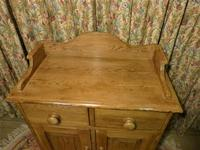 Vintage Stripped Pine Cupboard with Shaped Back (3 of 8)