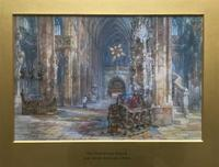 Sir Wyke Bayliss PRBA HRMS Rose Window Brussels Watercolour Painting (2 of 16)