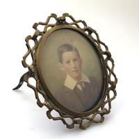 Attractive Portrait Miniature in a Quality Arts & Crafts Frame 19th Century (3 of 6)