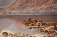 """Oil Painting by Charles Pettitt """"early Morning, Coniston Lake and Mountains, North Lancashire"""" (4 of 6)"""