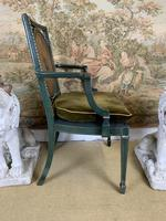 Fabulous Set of 6 Green Painted Armchairs (5 of 12)