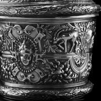 Rare Antique Solid Silver Cellini Tea Caddy Box - Mappin & Webb 1902 (24 of 28)