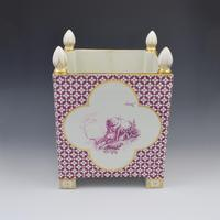 Large Victorian Minton Sevres Style Square Jardiniere (4 of 15)