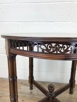Antique Walnut Circular Centre Table (6 of 10)