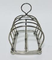Antique Solid Silver Toast Rack (4 of 8)