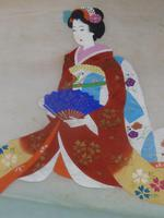Late Meiji , early Taisho Period Japanese Painting of a Bijin- Signed (3 of 5)