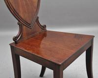 Pair of Early 19th Century Mahogany Hall Chairs (4 of 6)