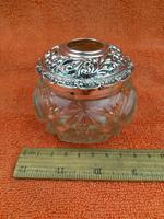 Antique Sterling Silver Hallmarked Large Vanity Hair Bottle Jar 1907 Arthur Willmore Pennington (2 of 12)
