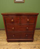 Handsome Small Antique Mahogany Chest of Drawers (3 of 20)