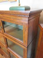 Superb Antique Oak Barrister's Double Glazed Bookcase (8 of 11)