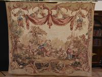 Antique French Tapestry Classical Courtly Love Romance c.1860 (2 of 17)