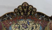 Beautiful French 19th century champleve enamel desk set (4 of 6)