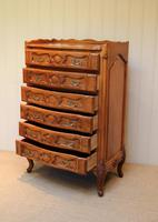 French Cherry Wood Tall Chest of Drawers (10 of 12)