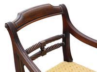 Georgian Mahogany Elbow Desk Carver Chair c.1820 (4 of 8)