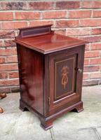 Edwardian Mahogany Wood Bedside Cabinet - Converted Purdonium (5 of 9)