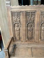 French Gothic Oak Hall Bench (7 of 8)