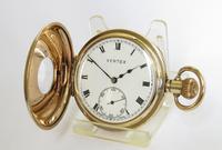1930s Vertex Revue Half Hunter Pocket Watch (2 of 5)