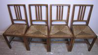 Set of 6 Heals Oak Dining Chairs c.1930 (2 of 9)