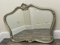 Beautiful French Regency Style Glass Silver Acanthus Crown Overmantle Mirror (13 of 23)