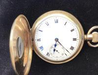 Watch Pocket Half Hunter Gold Plated (3 of 6)