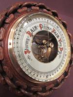 Antique Polished Oak Ship's Barometer (3 of 6)